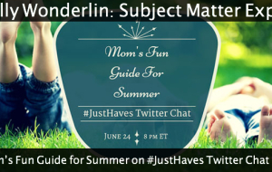 Mom's Fun Guide for Summer on #JustHaves Twitter Chat 6.24.15