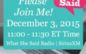 Join Me On What She Said Radio